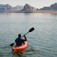Kayaker on Lake Powell
