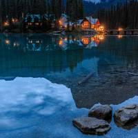 Emerald Lake At Dusk