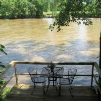 Private Deck At Rustic River Cabin on Shenandoah River