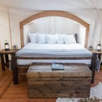 Inside Deluxe Tent