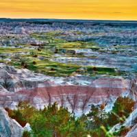 Landscape in Badlands