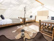 Safari Tent with 3 Twin Beds