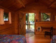 Camper Cabins with Shared Bathroom