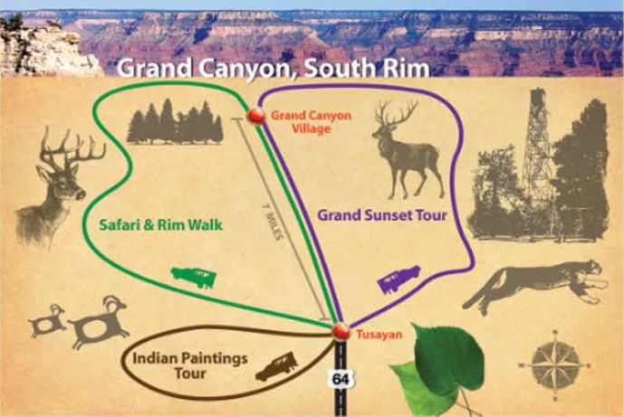 Grand Canyon south rim map