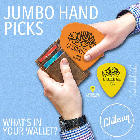 chibson jumbo guitar pick What's The Best Guitar Pick? Rock Stock Pedals blog