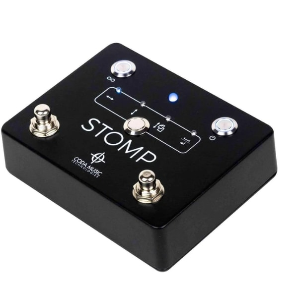 Coda Stomp Bluetooth page turner Rock Stock paperless solution for the gigging musician