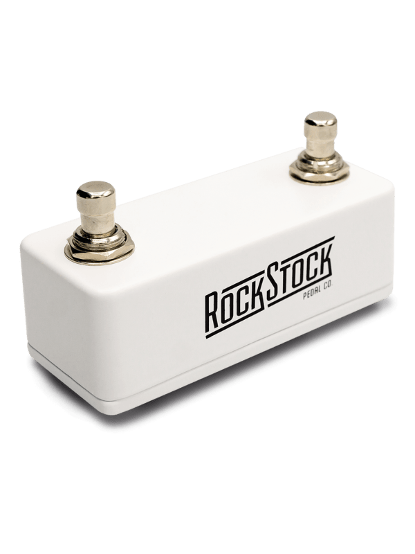 Rock Stock Pedals Utility Pedal Dual Switch TRS (white)