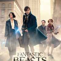 The Fantastic Beasts and Where to Find Them poster, basically just the main characters standing in a street