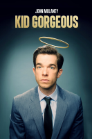 Poster for Kid Gorgeous at Radio City: A simple photo of John Mulaney with a halo above his head