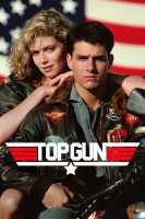 A top gun poster showing Kelly McGinnis resting on the shoulder of Tom Cruise.