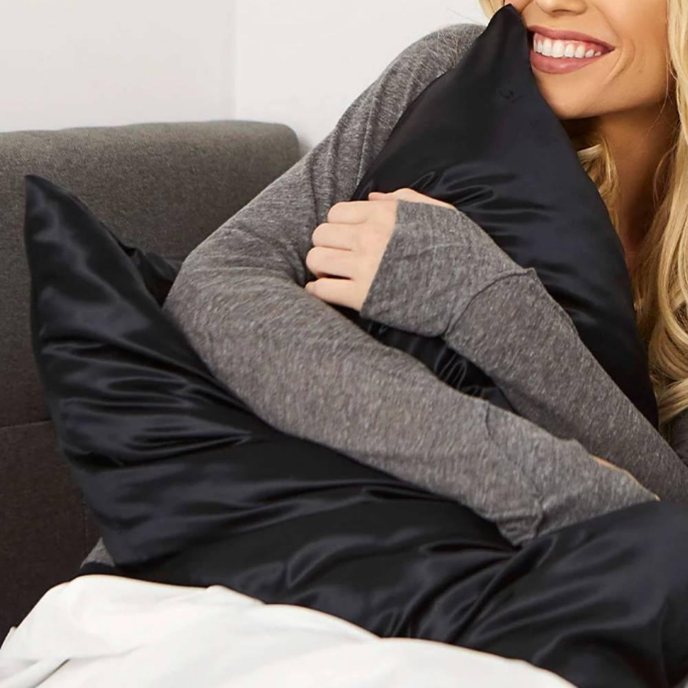 Black Satin Pillowcases