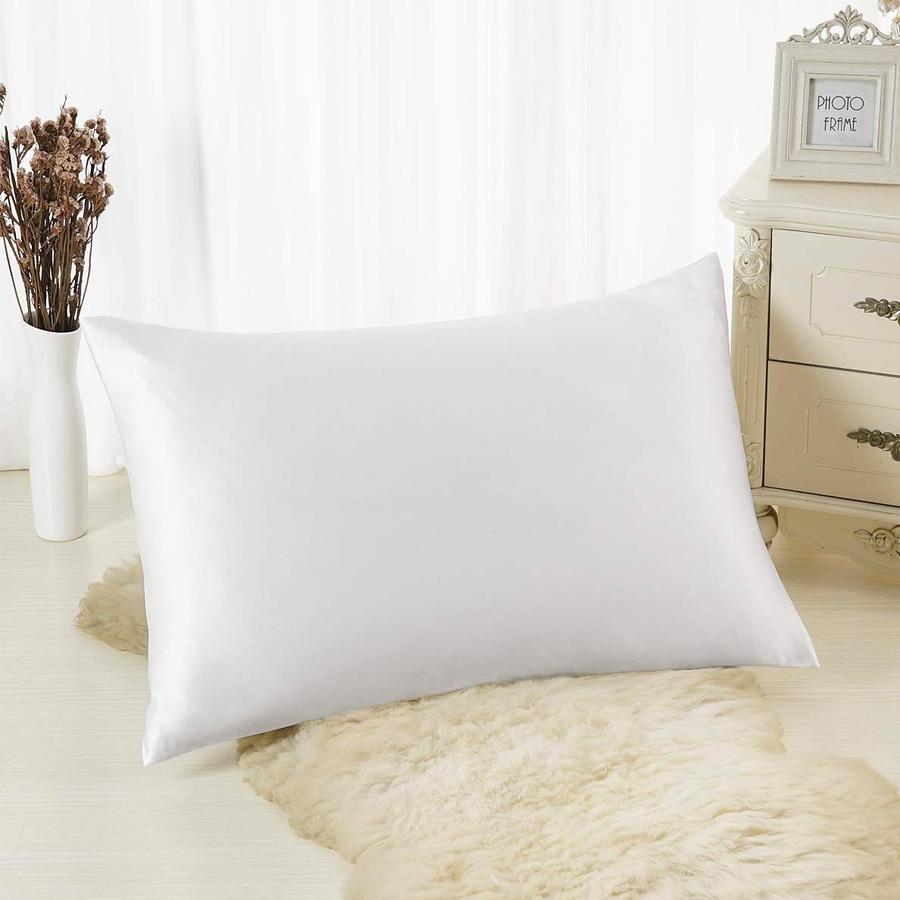 white satin pillowcases