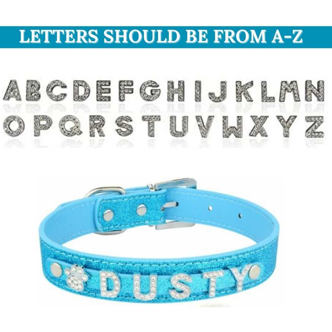 Blue Leather Dog Collars