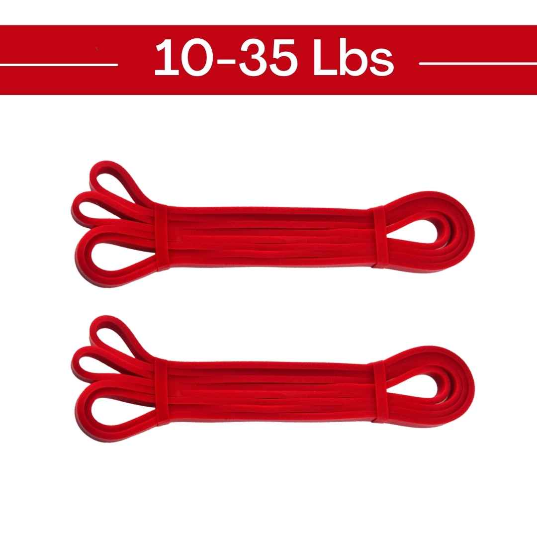 red exercise band