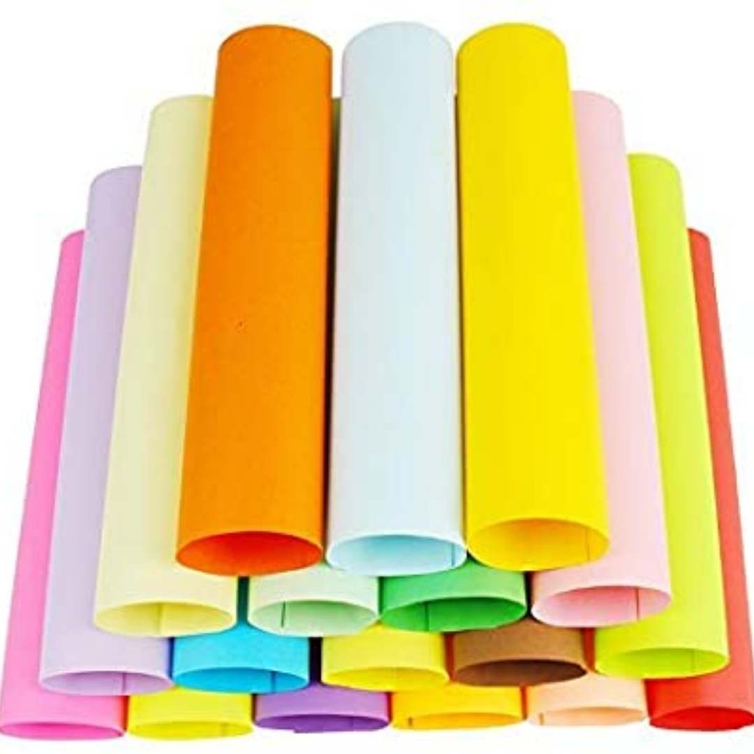 coloured card paper