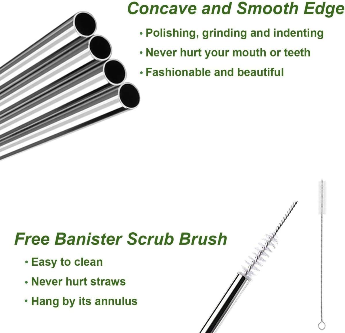 metal bendy straws
