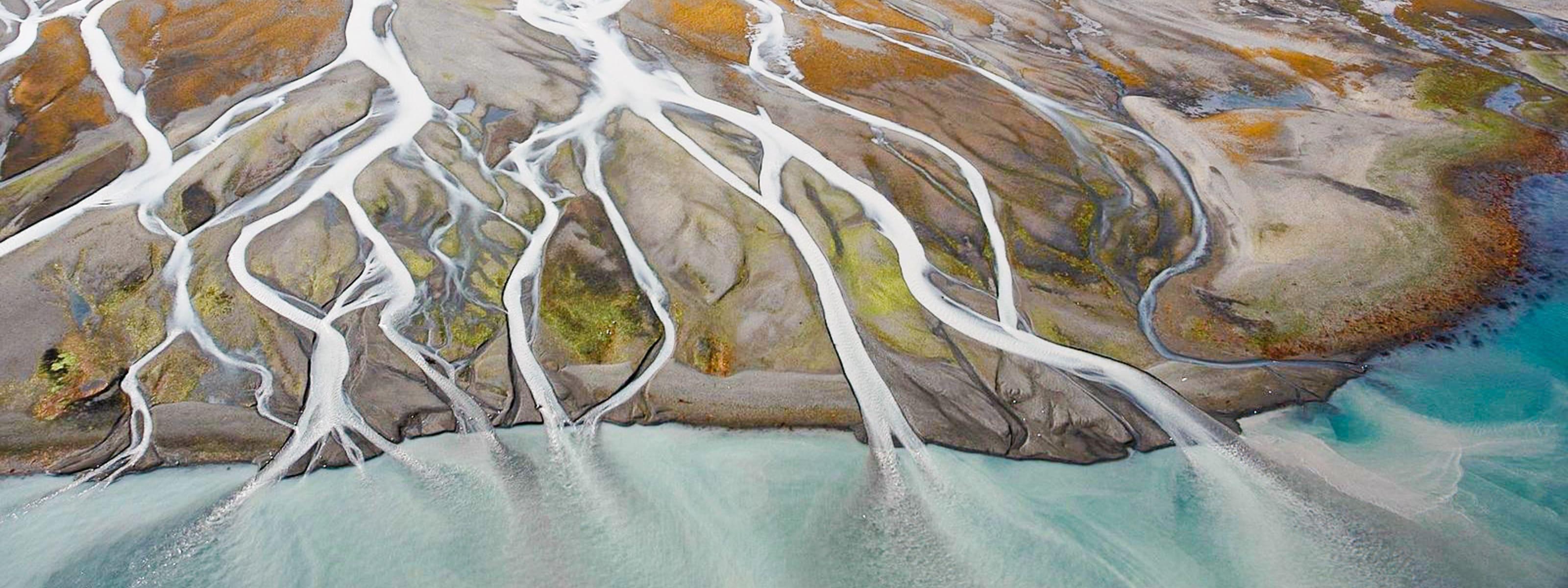 Braided river from Alaska
