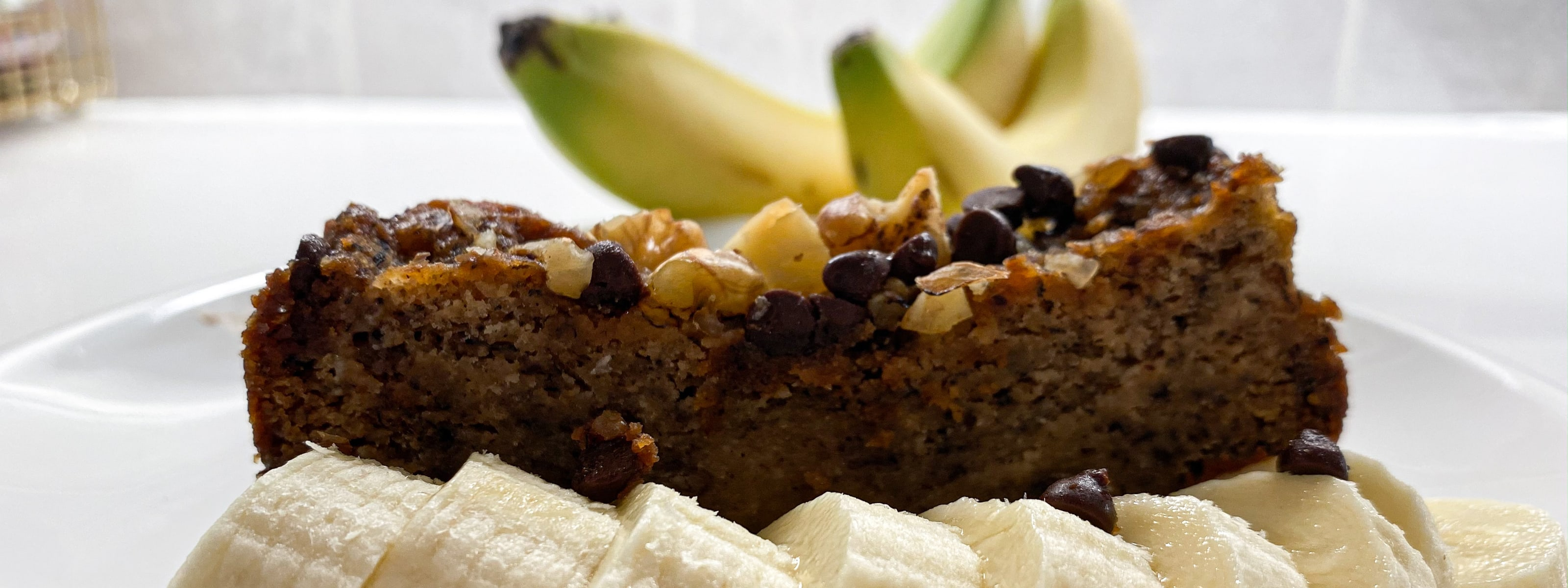 Banana Bread with Plate