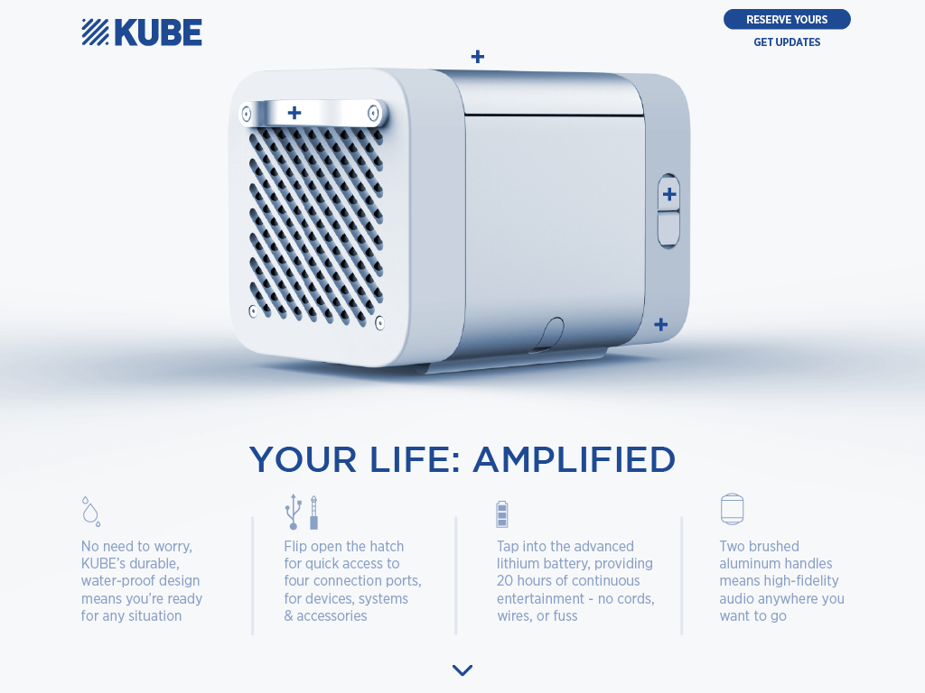 KUBE tapthrough your life amplified E Rocksauce Studios