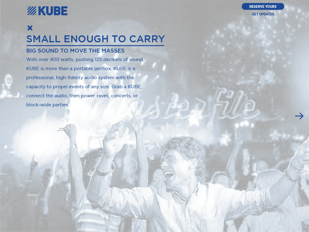 KUBE portable enough to take to a block party Rocksauce Studios