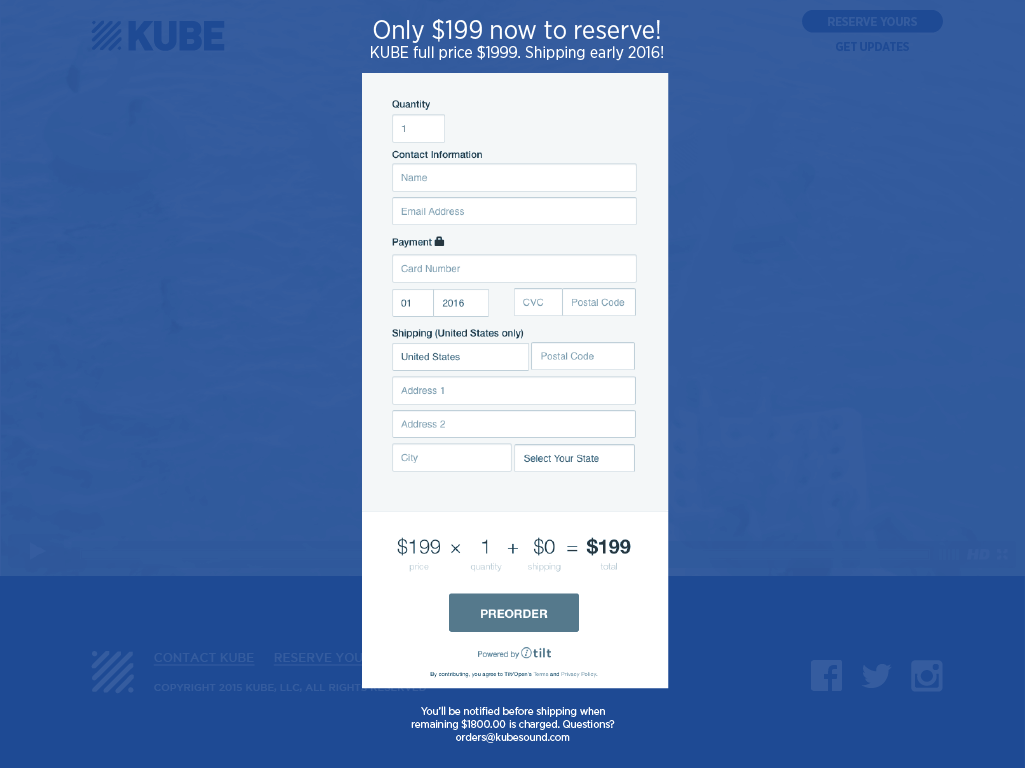 KUBE user reserve own unit Rocksauce Studios