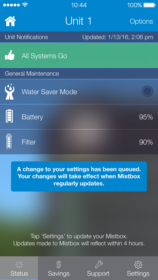 Mistbox Details Screen