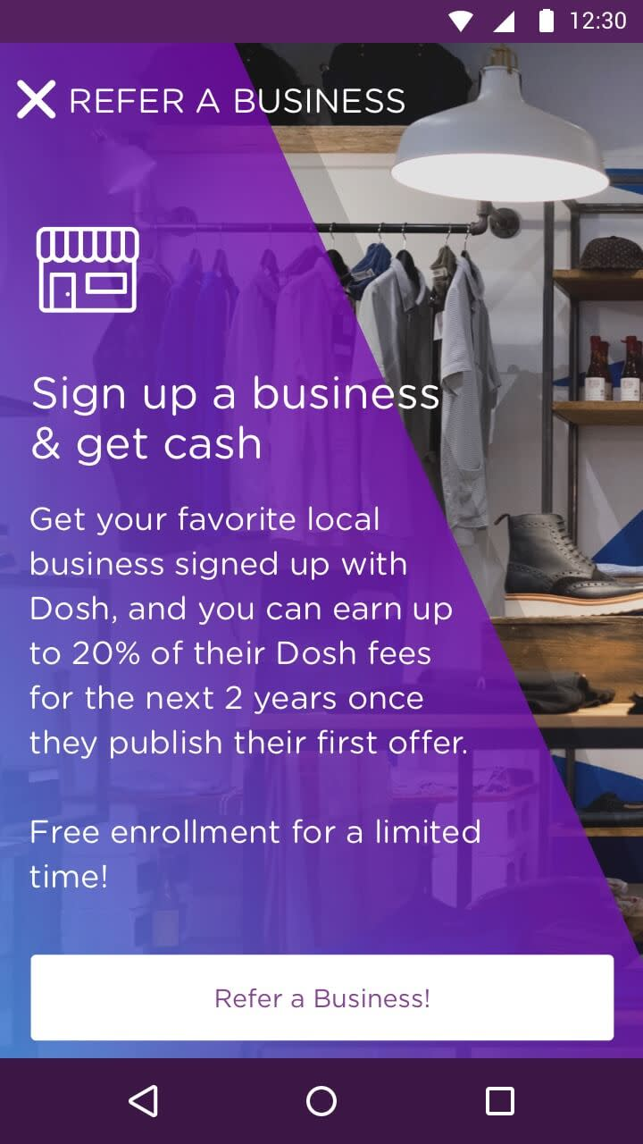 DOSH app Refer a Business Rocksauce Studios