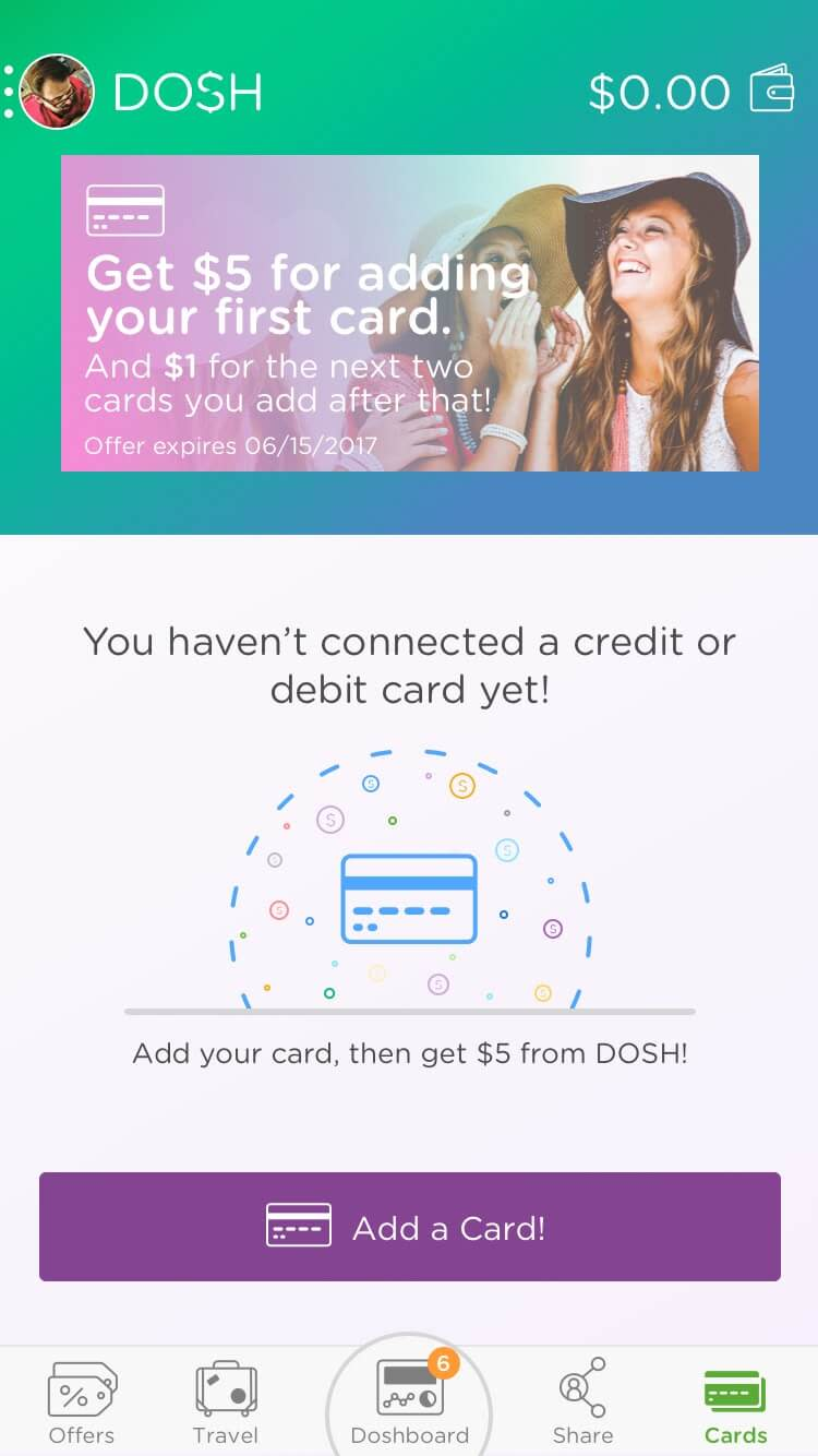 DOSH app Card Linking: Getting money for linking cards Rocksauce Studios