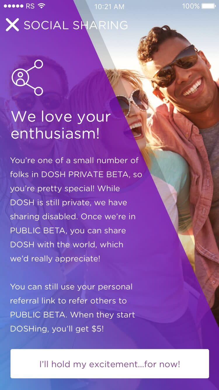 DOSH App Onboarding: Social Media Explanation Rocksauce Studios