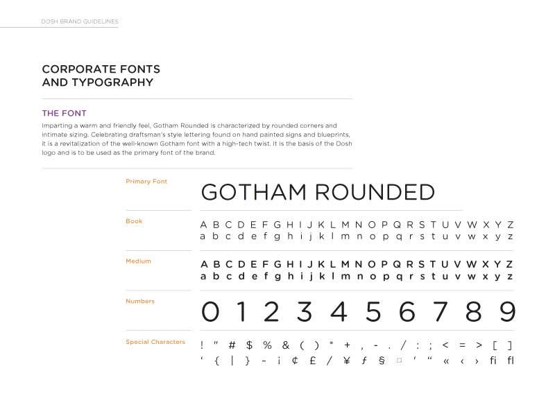 DOSH font guidelines