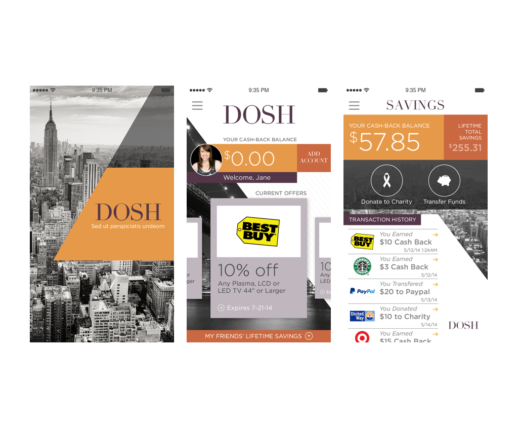 Though eventually rethought, DOSH's initial branding was vital in securing early investors