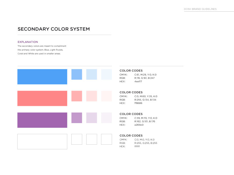 DOSH extended color palette