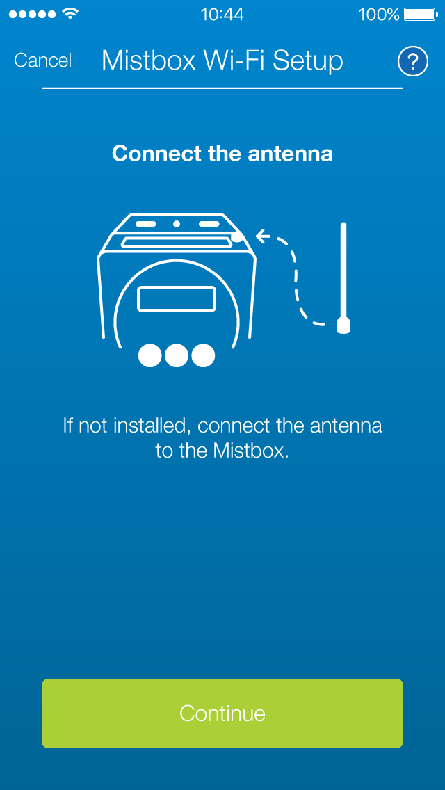 Mistbox v1 - WiFi Setup