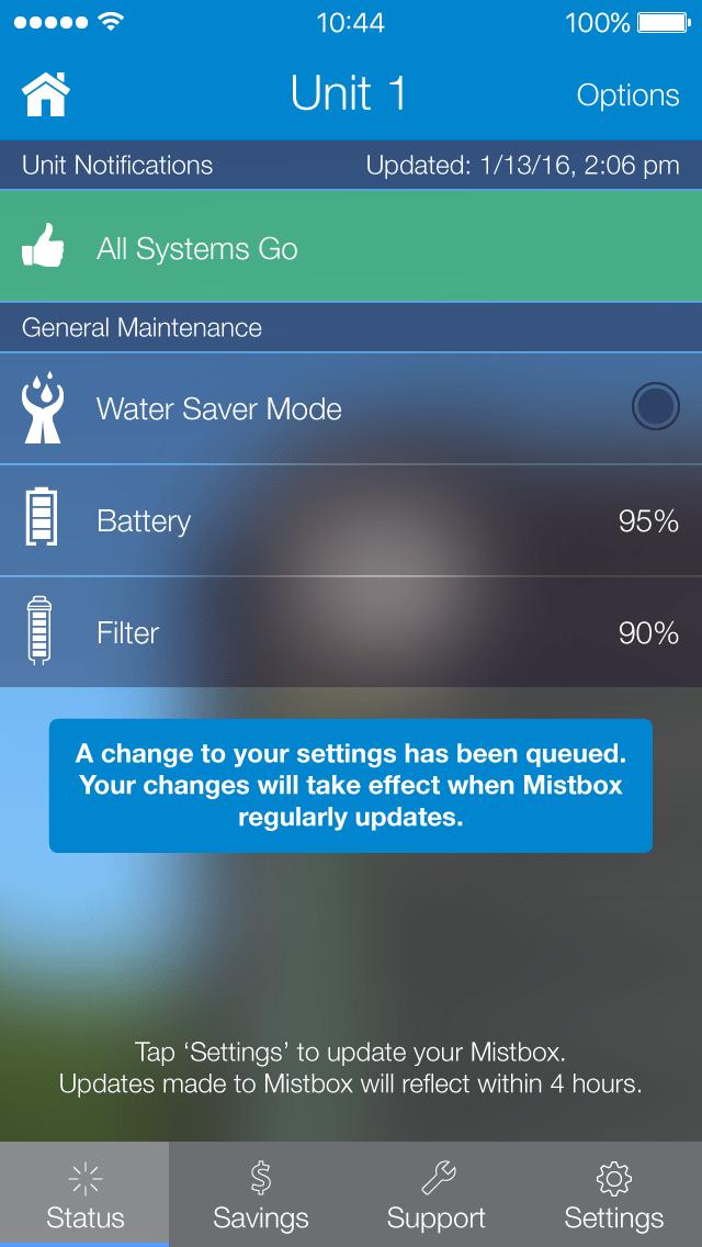 Mistbox Details Screen