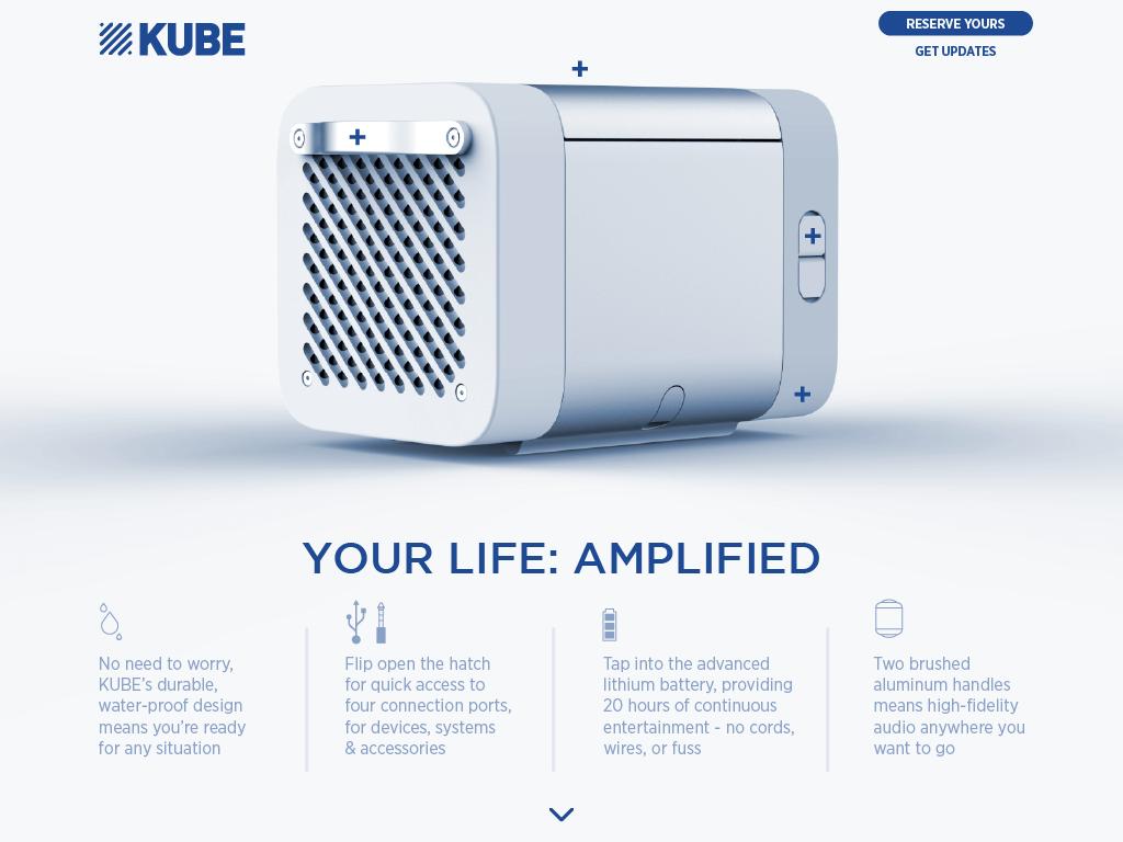 KUBE tapthrough your life amplified E Rocksauce Studios