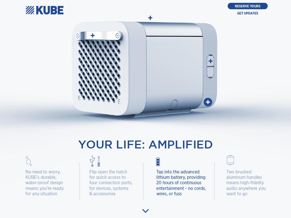 KUBE tapthrough your life amplified C Rocksauce Studios