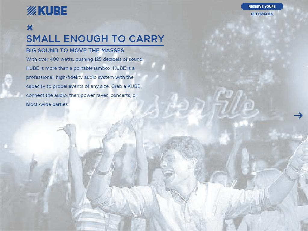 KUBE portable enough to take to a block party Rocksauce Studios