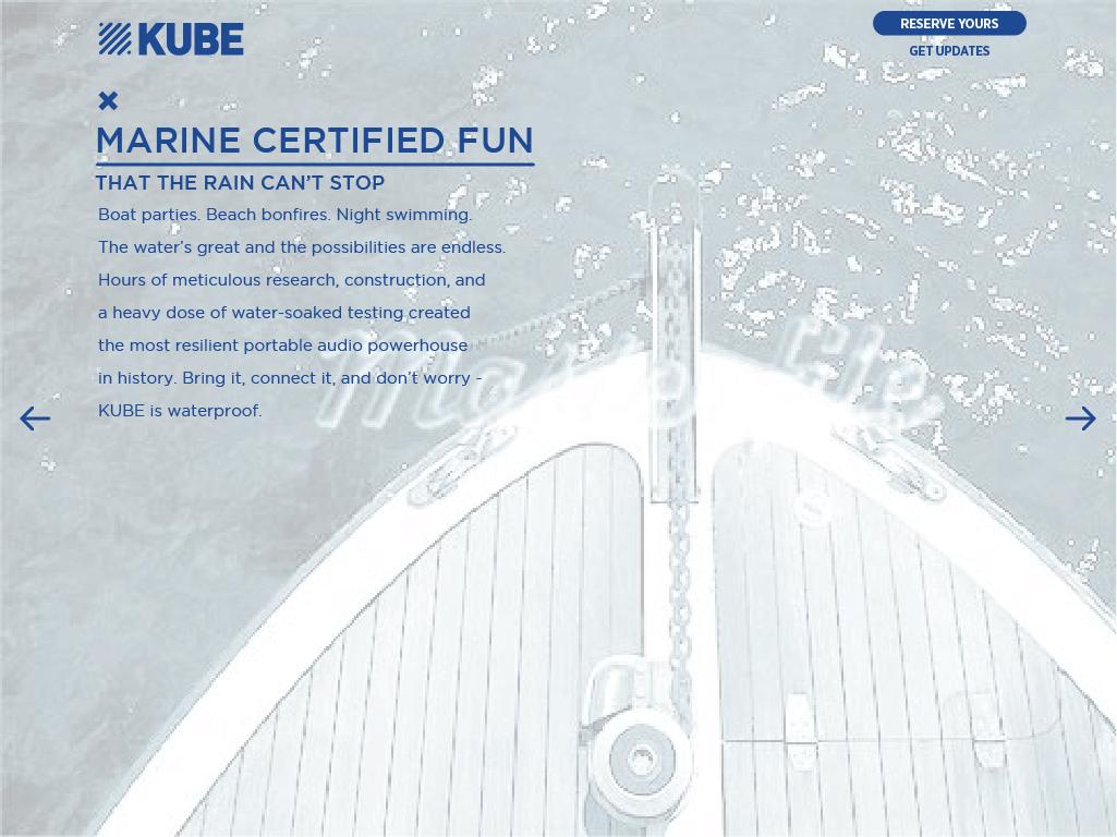 KUBE Marine Certified Fun Waterproof Rocksauce Studios