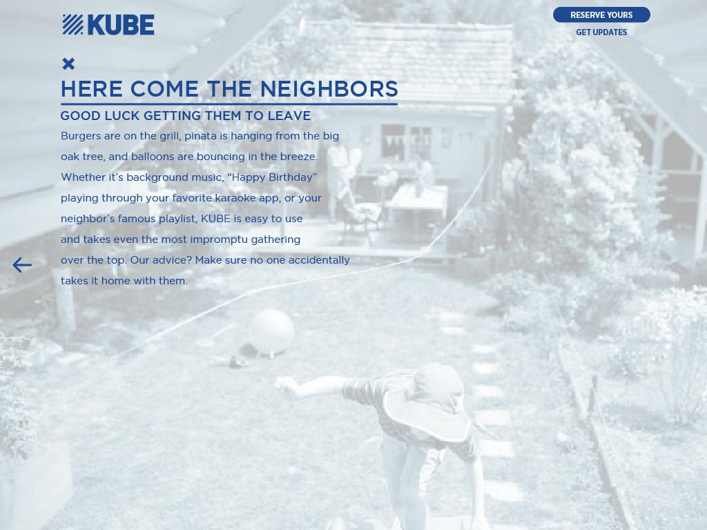 KUBE Here Come Neighbors Rocksauce Studios
