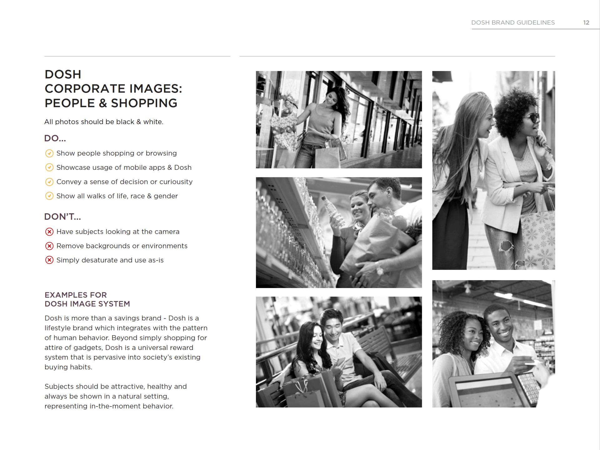 DOSH Photos of shopping black & white Rocksauce Studios