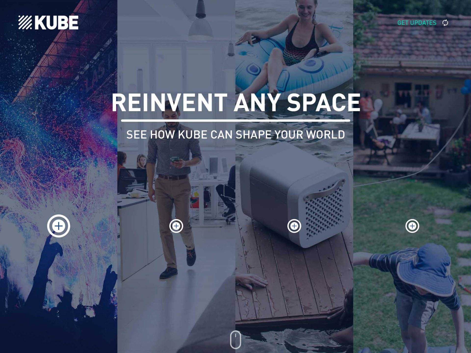 4-pane split, to showcase scenarios with KUBE Rocksauce Studios
