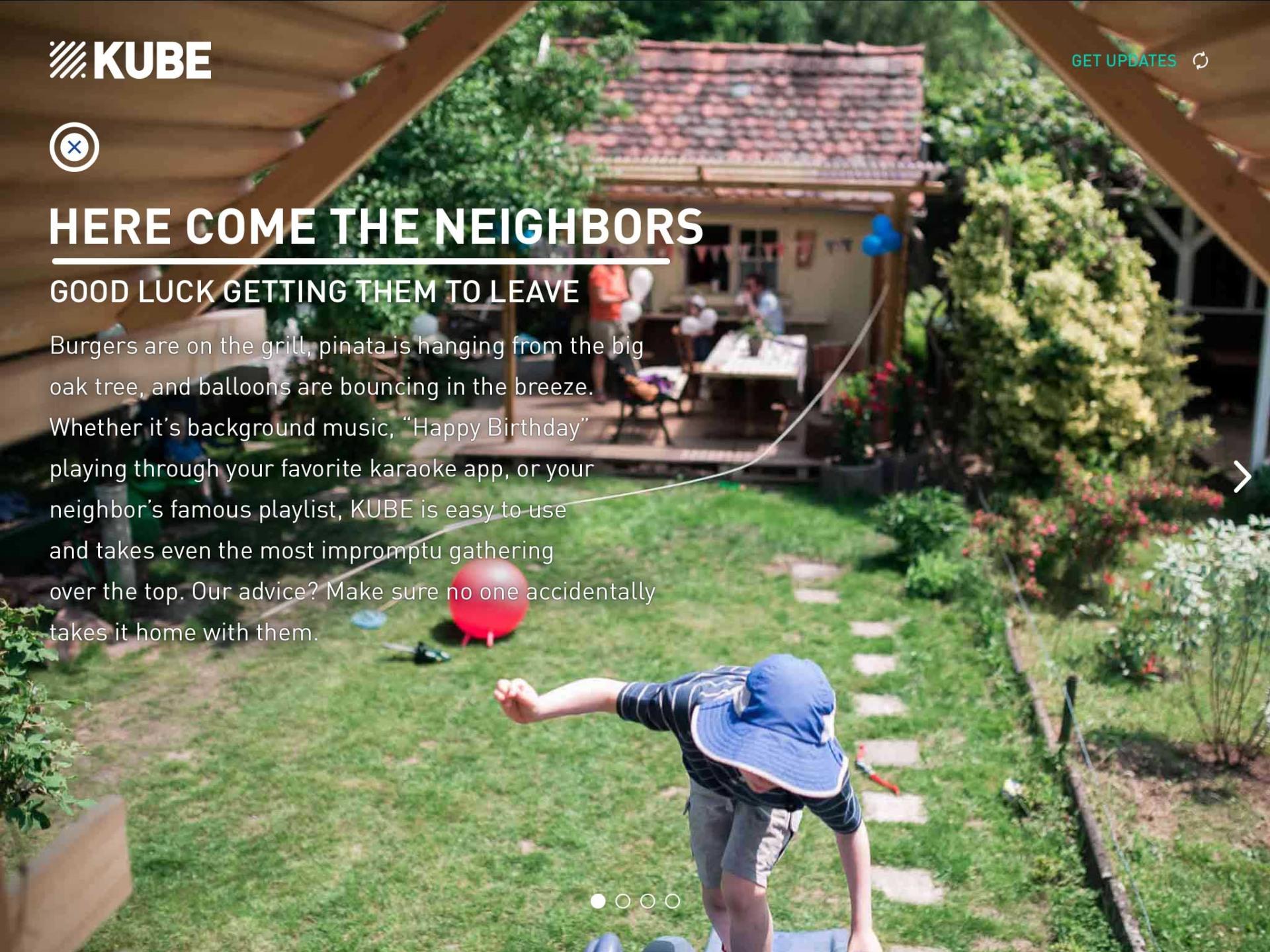 backyard scene where KUBE brings the crowds Rocksauce Studios