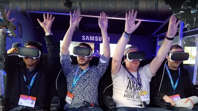 Samsung Gear VR Roller Coaster Simulation