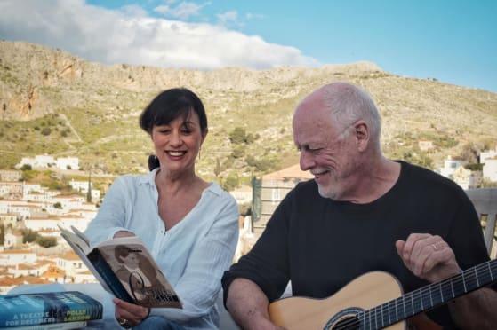 Ο Gilmour με την σύζυγό του Polly Samson.