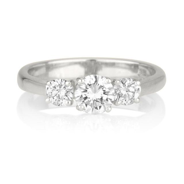 טבעת אירוסין לורין זהב לבן