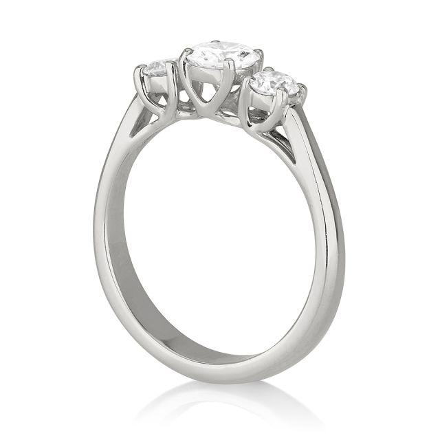 טבעת אירוסין מודל לורין זהב לבן