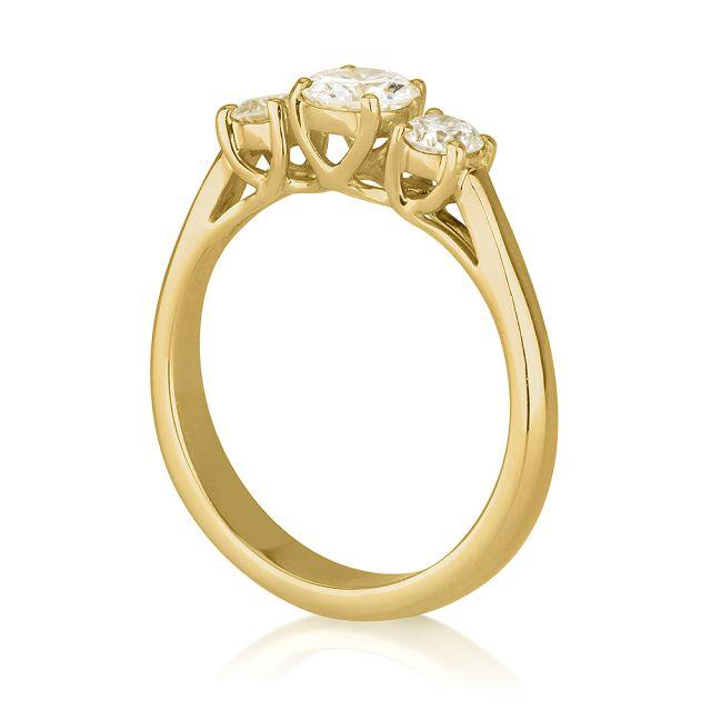 טבעת אירוסין לורין זהב צהוב