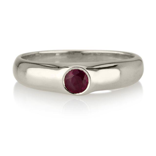 טבעת אירוסין מודל רובי