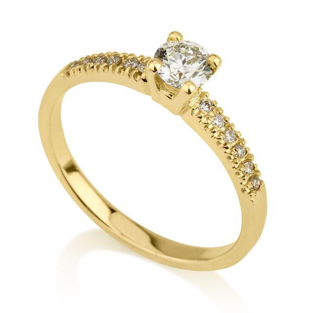 טבעת אירוסין רומי זהב צהוב