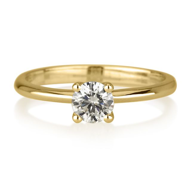 טבעת אירוסין לימה זהב צהוב